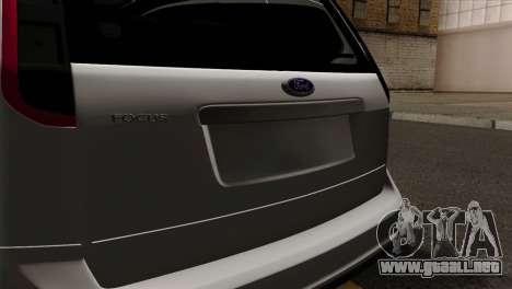 Ford Focus Wagon para GTA San Andreas vista hacia atrás