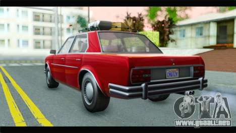 GTA 5 Benefactor Glendale para GTA San Andreas left