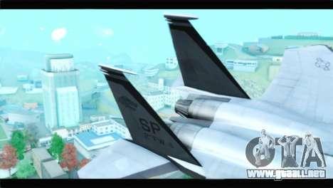 McDonnell Douglas F-15D Timberwolves Squadron para GTA San Andreas vista posterior izquierda
