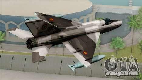 Hawker Hunter F6A para GTA San Andreas left