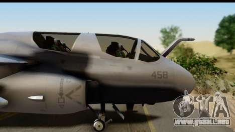 Northrop Grumman EA-6B VAQ-194 Skyshields para GTA San Andreas vista posterior izquierda