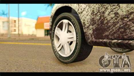 Dacia Sandero Dirty Version para GTA San Andreas vista posterior izquierda