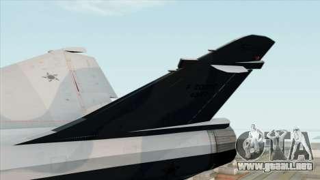Dassault Mirage 2000 Forca Aerea Brasileira para GTA San Andreas vista posterior izquierda