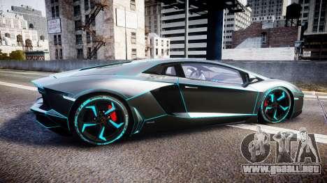 Lamborghini Aventador TRON Edition [EPM] Updated para GTA 4 left