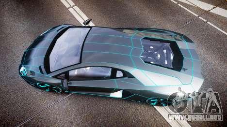 Lamborghini Aventador TRON Edition [EPM] Updated para GTA 4 visión correcta