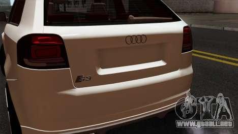 Audi S3 2011 para GTA San Andreas vista hacia atrás