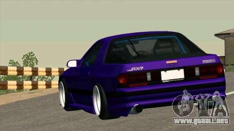 Mazda RX-7 para la vista superior GTA San Andreas