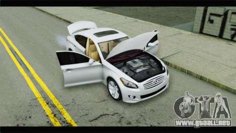 Infiniti M56 para GTA San Andreas vista hacia atrás