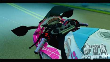 Kawasaki Ninja ZX-10R Super Sonico Itansha para la visión correcta GTA San Andreas