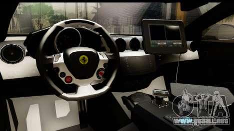 NFS Rivals Ferrari FF Cop para visión interna GTA San Andreas