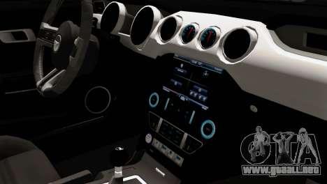 Ford Mustang RTR Spec 2 2015 para la visión correcta GTA San Andreas