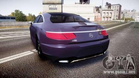 Mercedes-Benz S500 (C217) 2015 para GTA 4 Vista posterior izquierda