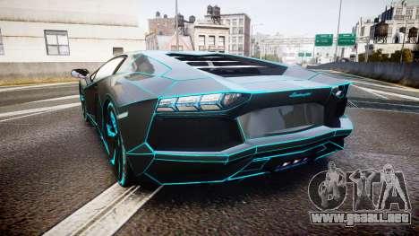 Lamborghini Aventador TRON Edition [EPM] Updated para GTA 4 Vista posterior izquierda