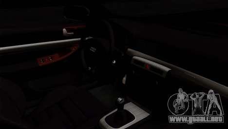 Audi S4 2000 Drag Version para la visión correcta GTA San Andreas