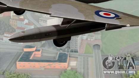MIG-21MF Romanian Air Force para la visión correcta GTA San Andreas