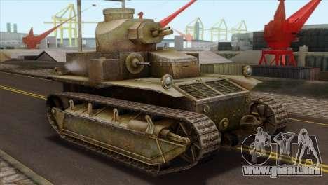 T2 Medium Tank para GTA San Andreas