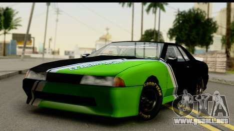 Elegy NASCAR PJ 2 para GTA San Andreas vista hacia atrás