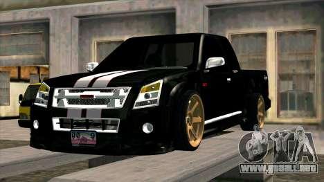 Isuzu D-Max X-Series para visión interna GTA San Andreas