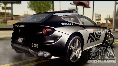 NFS Rivals Ferrari FF Cop para GTA San Andreas left
