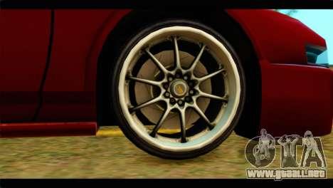 Infernus Rapide S Stock para GTA San Andreas vista posterior izquierda