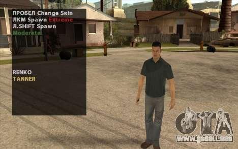 John Tanner DRIV3R para GTA San Andreas segunda pantalla