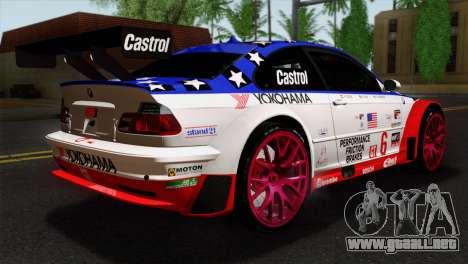 BMW M3 GTR 2001 Prototype Technology Group para GTA San Andreas left