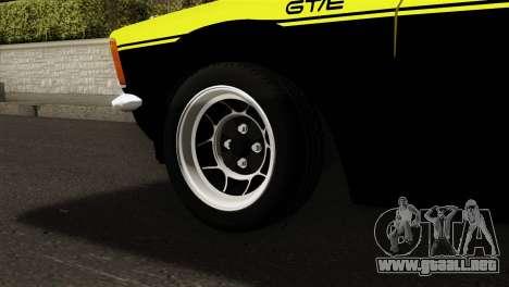 Opel Kadett E GTE 1900 Italian Rally para GTA San Andreas vista posterior izquierda