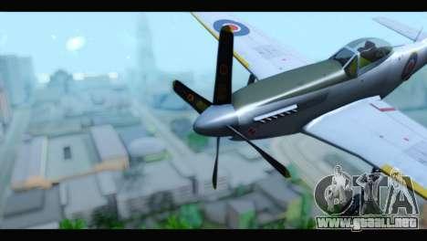 P-51 Mustang Mk4 para la visión correcta GTA San Andreas