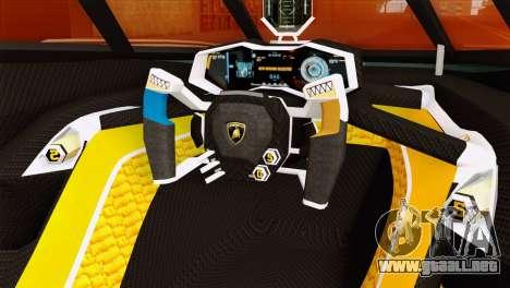 Lamborghini Egoista para la visión correcta GTA San Andreas