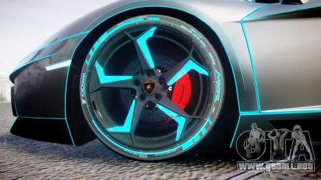 Lamborghini Aventador TRON Edition [EPM] Updated para GTA 4 vista hacia atrás