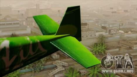 GTA 5 Stuntplane Spunck para GTA San Andreas vista posterior izquierda