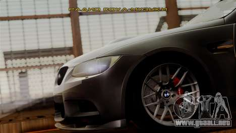 BMW M3 E92 GTS 2012 v2.0 Final para vista inferior GTA San Andreas