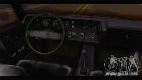 Chevrolet Chevelle 1970 Flat Shadow para la visión correcta GTA San Andreas