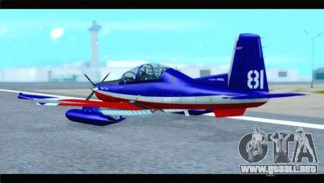 Beechcraft T-6 Texan II Red para GTA San Andreas left