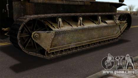 T2 Medium Tank para GTA San Andreas vista posterior izquierda