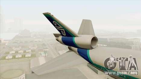 DC-10-30 Air New Zealand para GTA San Andreas vista posterior izquierda