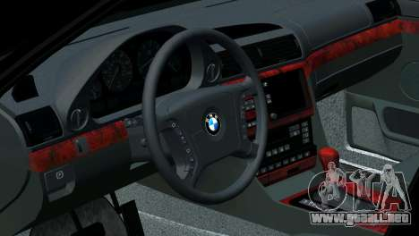 BMW 750i e38 para GTA San Andreas interior