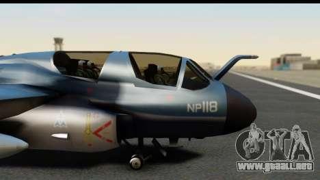Northrop Grumman EA-6B ISAF para GTA San Andreas vista hacia atrás