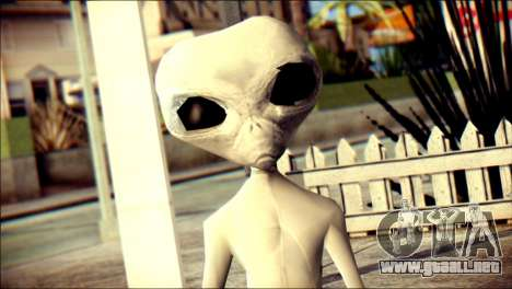Gray Alien Skin Skin para GTA San Andreas tercera pantalla