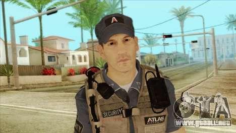 COD Advanced Warfare Jon Bernthal Security Guard para GTA San Andreas tercera pantalla