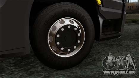 Mercedes-Benz Actros MP4 Euro 6 IVF para GTA San Andreas vista posterior izquierda