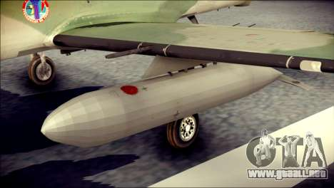 Embraer EMB-314 Super Tucano E para la visión correcta GTA San Andreas