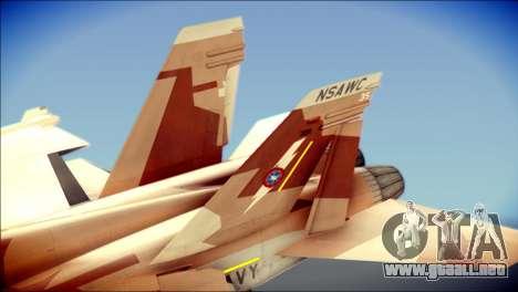 F-22 Raptor Starscream para GTA San Andreas vista posterior izquierda