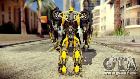 Bumblebee Skin from Transformers para GTA San Andreas segunda pantalla
