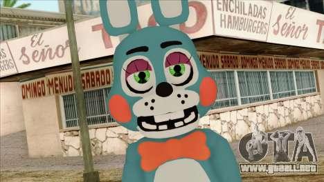 Toy Bonnie from Five Nights at Freddy 2 para GTA San Andreas tercera pantalla