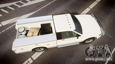 GTA V Vapid Utility Truck para GTA 4 visión correcta