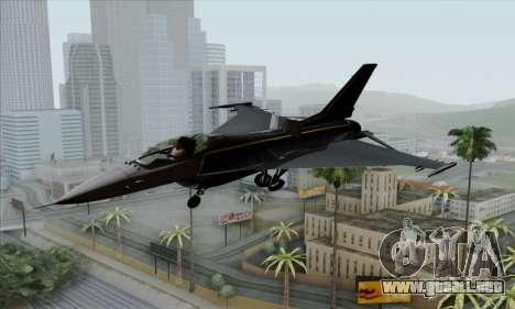 F-16XL para GTA San Andreas vista hacia atrás