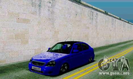 VAZ 2172 para GTA San Andreas vista hacia atrás