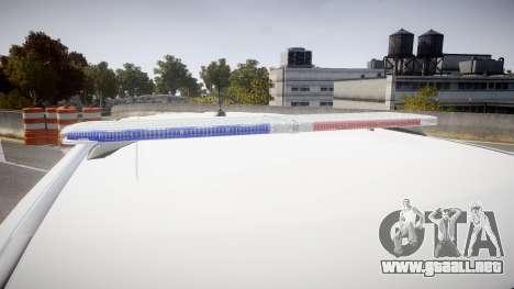 Ford Explorer 2011 Elizabeth Police [ELS] para GTA 4 vista hacia atrás