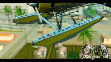 GTA 5 Sea Plane para GTA San Andreas vista hacia atrás